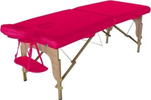 Brand new pink massage table and stool