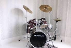 Age 7-14 millenium Drum kit