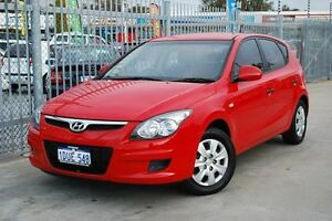2011 Hyundai i30 FD MY11 SX Red 4 Speed Automatic Hatchback Maddington Gosnells Area Preview