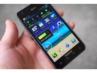SAMSUNG S2 16 GB IN BLACK## UNLOCKED ##GREAT CONDITION