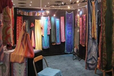 Flourish Indoor Artcraft Show Booth 10x10x8 Steel Frame Mesh Panels