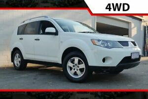 2007 Mitsubishi Outlander ZG MY07 LS White 6 Speed Constant Variable Wagon Ashmore Gold Coast City Preview