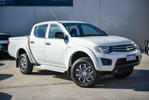 2013 Mitsubishi Triton MN MY14 GLX Double Cab White 4 Speed Sports Automatic Utility Midvale Mundaring Area Preview