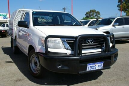 2012 Toyota Hilux GGN15R MY12 SR Xtra Cab White 5 Speed Automatic Utility Bellevue Swan Area Preview