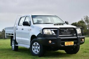 2013 Toyota Hilux KUN26R MY12 SR Double Cab White 4 Speed Automatic Utility Enfield Port Adelaide Area Preview