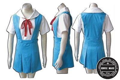 Cosplay OVP kostüm Anime Design Rei Ayanami Damen Uniform von EVA (Rei Ayanami Kostüm)