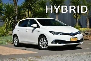 2017 Toyota Corolla ZWE186R Hybrid E-CVT White 1 Speed Constant Variable Hatchback Hybrid Morphett Vale Morphett Vale Area Preview