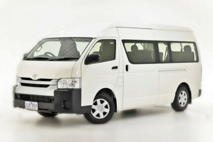 2017 Toyota Hiace KDH223R Commuter High Roof Super LWB White 4 Speed Automatic Bus
