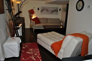 FULLY FURNISHED 1 Bedroom walkout basement apartment. THE BEACHE