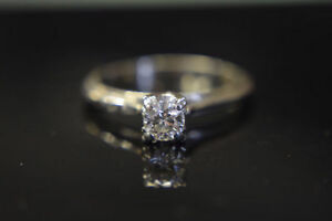 .14K Gold 0.41ct Diamond Engagement Ring -Size 8-Appraised**