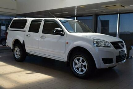 2011 Great Wall V200 K2 (4x2) White 6 Speed Manual Dual Cab Utility