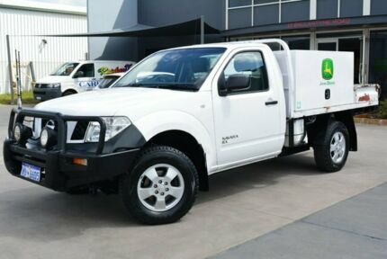 2009 Nissan Navara D40 RX (4x4) White 6 Speed Manual Cab Chassis Kewdale Belmont Area Preview