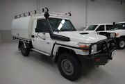 2012 Toyota Landcruiser VDJ79R MY10 Workmate White 5 Speed Manual Cab Chassis Kenwick Gosnells Area Preview
