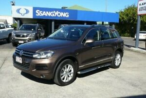 2012 Volkswagen Touareg 7P MY12 V6 TDI 4Xmotion Brown 8 Speed Automatic Wagon Rothwell Redcliffe Area Preview