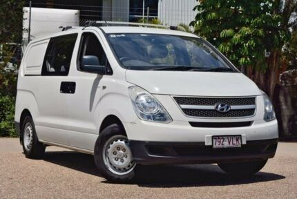 2011 Hyundai iLOAD TQ-V MY11 Crew Cab White 5 Speed Sports Automatic Van