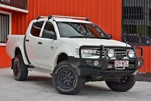 2010 Mitsubishi Triton MN MY10 GL-R Double Cab White 5 Speed Manual Utility Molendinar Gold Coast City Preview