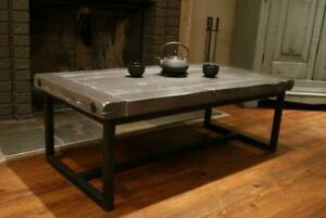 Wood and Iron Coffee Table $895, Choice of Colour. By LIKEN Woodworks
