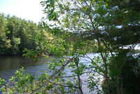 4 residential lots each 190' on Seguin River in Parry Sound