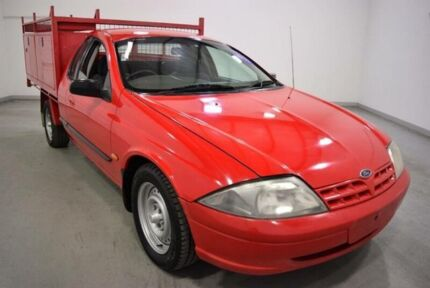 2002 Ford Falcon Auiii XL Red 4 Speed Automatic Cab Chassis Moorabbin Kingston Area Preview