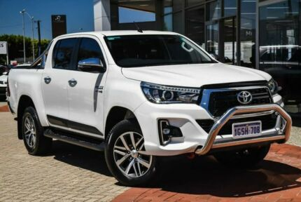 2019 Toyota Hilux GUN126R SR5 Double Cab White 6 Speed Sports Automatic Utility Morley Bayswater Area Preview