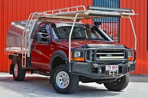 2001 Ford F250 XL Red 5 Speed Manual Cab Chassis Molendinar Gold Coast City Preview