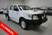 2014 Toyota Hilux KUN26R MY14 SR Double Cab White 5 Speed Manual Cab Chassis Kenwick Gosnells Area Preview
