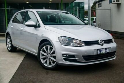 2013 Volkswagen Golf VII 103TSI DSG Highline Silver 7 Speed Sports Automatic Dual Clutch Hatchback Nunawading Whitehorse Area Preview