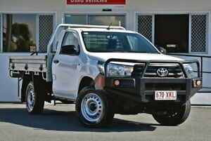2017 Toyota Hilux GUN125R Workmate White 6 Speed Manual Cab Chassis
