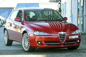 2009 Alfa Romeo 147 MY2009 Selespeed Red 5 Speed Seq Manual Auto-Clutch Hatchback South Lismore Lismore Area Preview