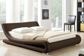 *BRAND NEW* Chocolate Brown Madrid BED & MATTRESS