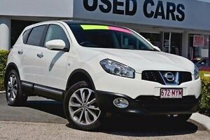 2010 Nissan Dualis J10 MY2009 Ti Hatch X-tronic White 6 Speed Constant Variable Hatchback Taringa Brisbane South West Preview