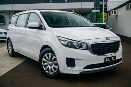 2016 Kia Carnival YP MY16 S White 6 Speed Sports Automatic Wagon Nunawading Whitehorse Area Preview