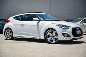 2013 Hyundai Veloster FS3 SR Coupe Turbo White 6 Speed Sports Automatic Hatchback