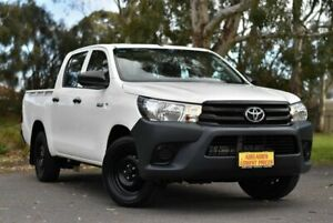 2015 Toyota Hilux TGN121R Workmate Double Cab 4x2 White 6 Speed Sports Automatic Utility Melrose Park Mitcham Area Preview