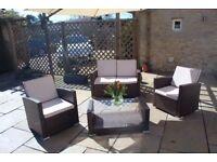 """Marbella Rattan Garden Sofa Set"" for sale. Excellent Condition. £300 ONO."