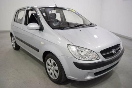 2010 Hyundai Getz TB MY09 S Silver 5 Speed Manual Hatchback Moorabbin Kingston Area Preview