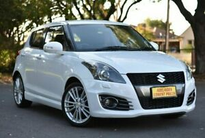 2014 Suzuki Swift FZ MY14 Sport White 7 Speed Constant Variable Hatchback Melrose Park Mitcham Area Preview