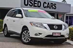 2013 Nissan Pathfinder R52 MY14 ST-L X-tronic 4WD Alpine White 1 Speed Constant Variable Wagon Taringa Brisbane South West Preview