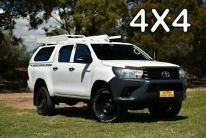 2016 Toyota Hilux GUN125R Workmate Double Cab White 6 Speed Sports Automatic Utility Enfield Port Adelaide Area Preview