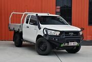 2016 Toyota Hilux GUN125R Workmate Extra Cab White 6 Speed Manual Cab Chassis Molendinar Gold Coast City Preview