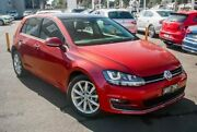 2016 Volkswagen Golf VII MY16 110TSI DSG Highline Red 7 Speed Sports Automatic Dual Clutch Hatchback Nunawading Whitehorse Area Preview
