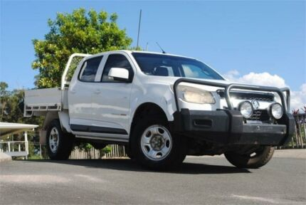 2013 Holden Colorado RG MY13 LX Crew Cab White 6 Speed Sports Automatic Cab Chassis Chevallum Maroochydore Area Preview