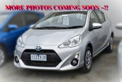 2016 Toyota Prius c NHP10R E-CVT Silver 1 Speed Constant Variable Hatchback Hybrid
