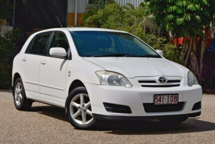 2005 Toyota Corolla ZZE122R 5Y Conquest White 4 Speed Automatic Hatchback