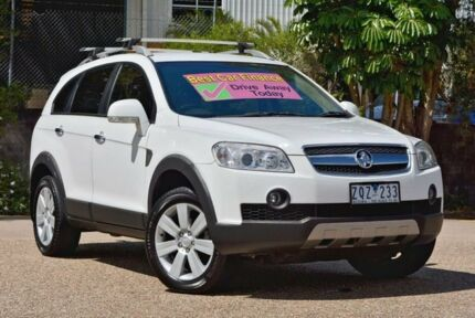 2009 Holden Captiva CG MY10 LX AWD White 5 Speed Sports Automatic Wagon