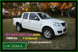 2013 Great Wall V200 K2 (4x2) White 6 Speed Manual Dual Cab Utility Seven Hills Blacktown Area Preview