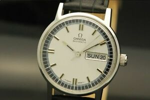 omega vintage 1970 day/date automatic automatique