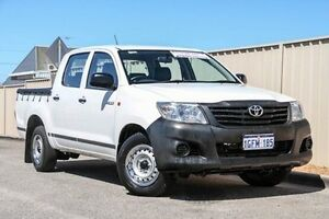 2013 Toyota Hilux TGN16R MY12 Workmate Double Cab White 4 Speed Automatic Utility Pearsall Wanneroo Area Preview