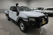 2014 Ford Ranger PX XL Double Cab Plus White 6 Speed Sports Automatic Cab Chassis Kenwick Gosnells Area Preview