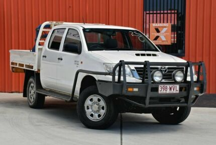 2013 Toyota Hilux KUN26R MY12 SR Double Cab White 5 Speed Manual Cab Chassis Molendinar Gold Coast City Preview